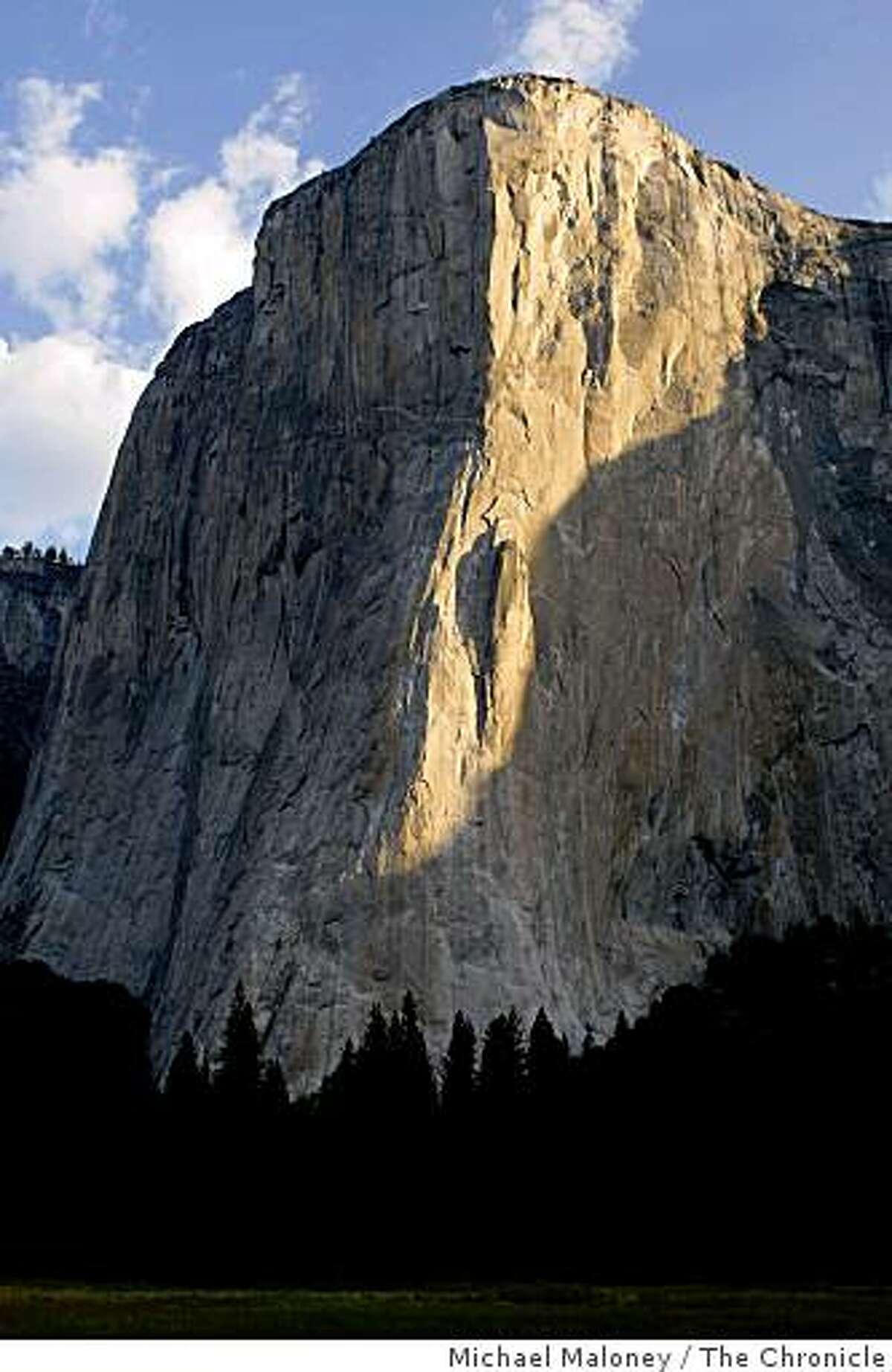 El Capitan, Yosemite in morning light, Calif. Photo taken on August 17, 2008.