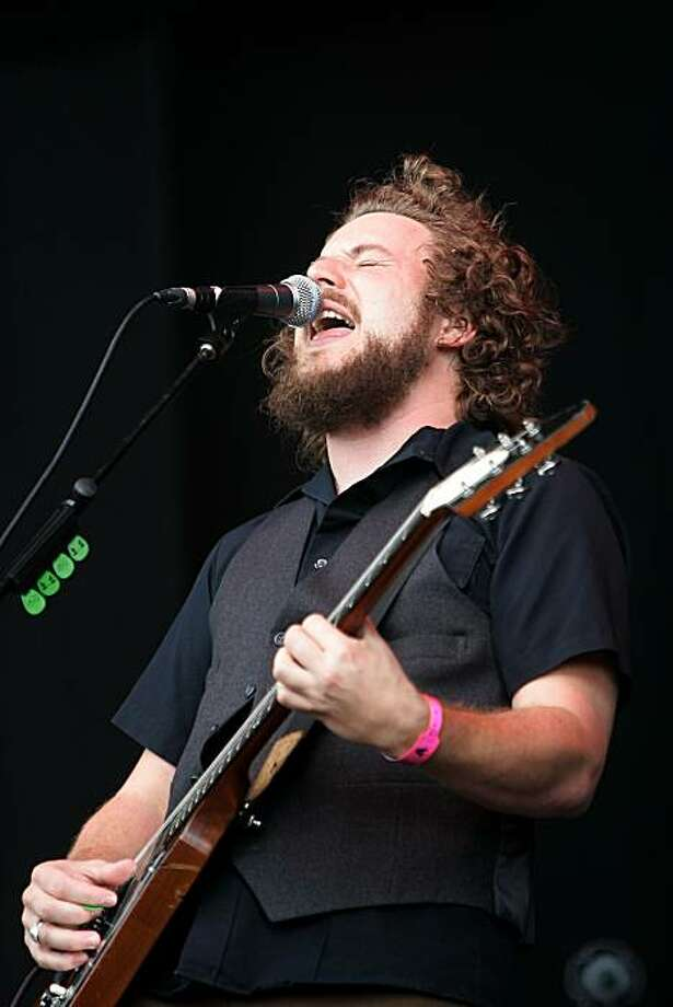 Singer Jim James of American rock band My Morning Jacket performs live on stage during The Hop Farm Festival at The Hop Farm on July 6, 2008 in Paddock Wood, Kent, England. The one day festival boasts a back to basics festival experience, with the event being totally unbranded, no sponsorship and no VIP areas. Photo: Simone Joyner, Getty Images