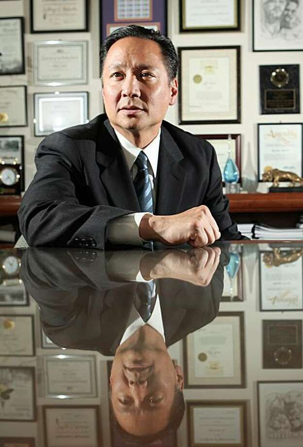In this photo from Tuesday, June 9, 2009, San Francisco Public Defender Jeff Adachi is photographed at his office in San Francisco. (AP Photo/Jeff Chiu) Photo: Jeff Chiu, AP