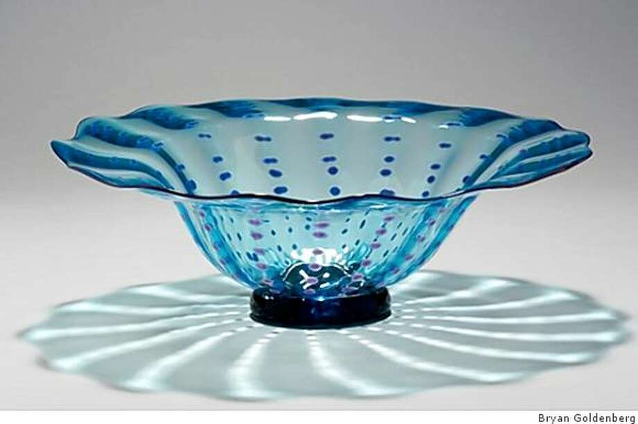 A dotted glass bowl made by Bryan Goldenberg. Photo: Bryan Goldenberg