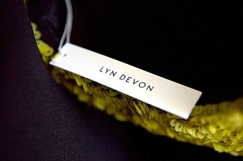 A tag for designer Lyn Devon as seen at the her Fall 2010 fashion trunk , held April 15, 2010, at the home of Hilary McInereny, in San Francisco, Calif. Photo: Thor Swift, Special To The Chronicle