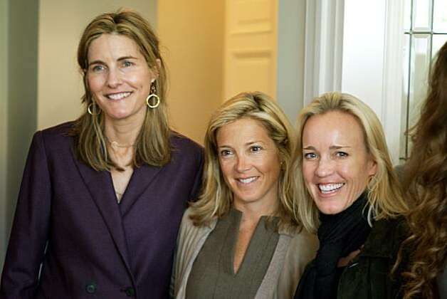 Hillary McInereny (left to right), Kathryn Lasater and Heidi Castelein at the Fall 2010 fashion trunk show for designer Lyn Devon, held April 19, 2010, at the home of Hilary McInereny, in San Francisco, Calif. Photo: Thor Swift, Special To The Chronicle