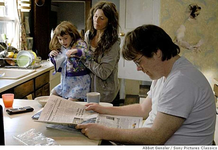 Sadie Goldstein as Olive, Catherin Keener as Adele Lack, Philip Seymour Hoffman as Caden Cotard in 'Synecdoche, New York.? Photo: Abbot Gensler, Sony Pictures Classics