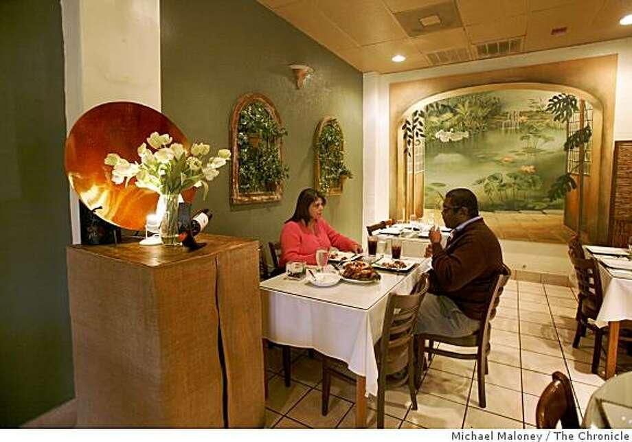 Irma Martinez Of San Mateo And Darren Kelley Of Redwood City Enjoy Lunch At Patio  Filipino