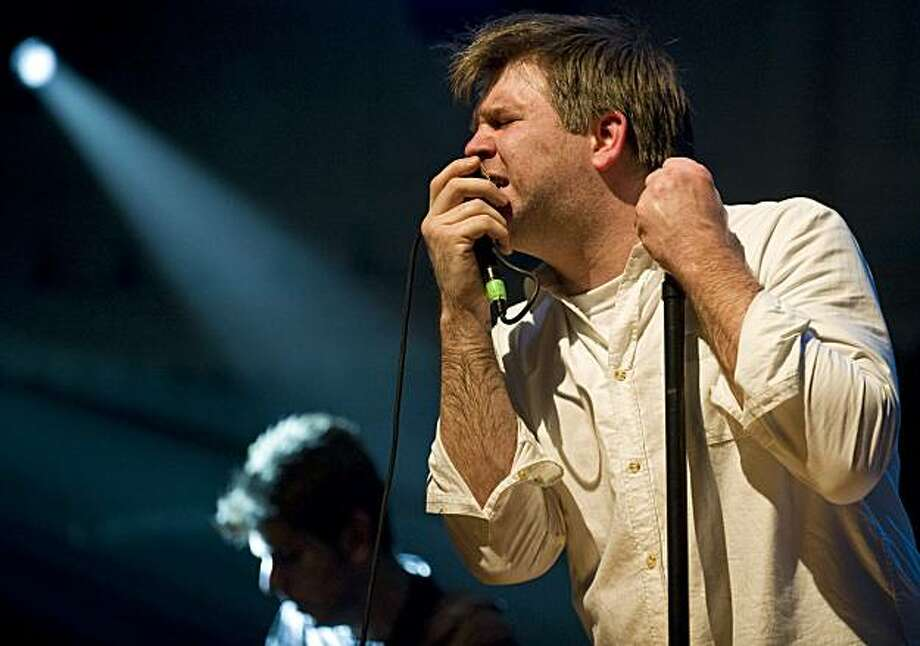 US muaician and singer James Murphy of LCD Soundsystem performs on May 4, 2010 at the Paradiso, in Amsterdam. Photo: Marten Van Dijl, AFP/Getty Images