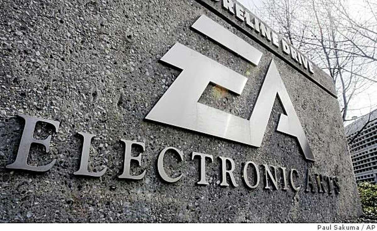 Exterior view of Electronic Arts headquarters in Redwood City, Calif., Monday, Feb. 25, 2008. Video game maker Electronic Arts Inc. on Monday urged the publisher of