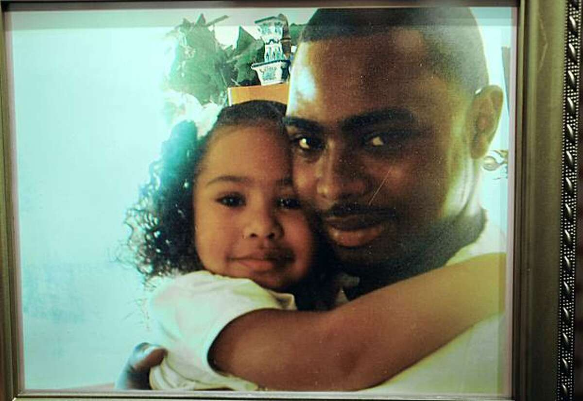 Oscar Grant and his daughter Tatiana, in a 2007 photograph. Oscar Grant, was gunned down by a former BART police officer in January of 2009. Johannes Mehserle, is about to go on trial for murder in Los Angeles.