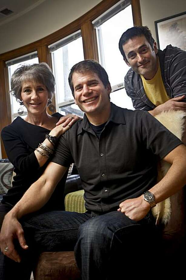 """Director Jon Bowden, center, poses with stars of his new film, """"The Full Picture,""""  Bettina Devin, left, and Daron Jennings in his San Francisco home on Thursday, May 27, 2010. Photo: Russell Yip, The Chronicle"""
