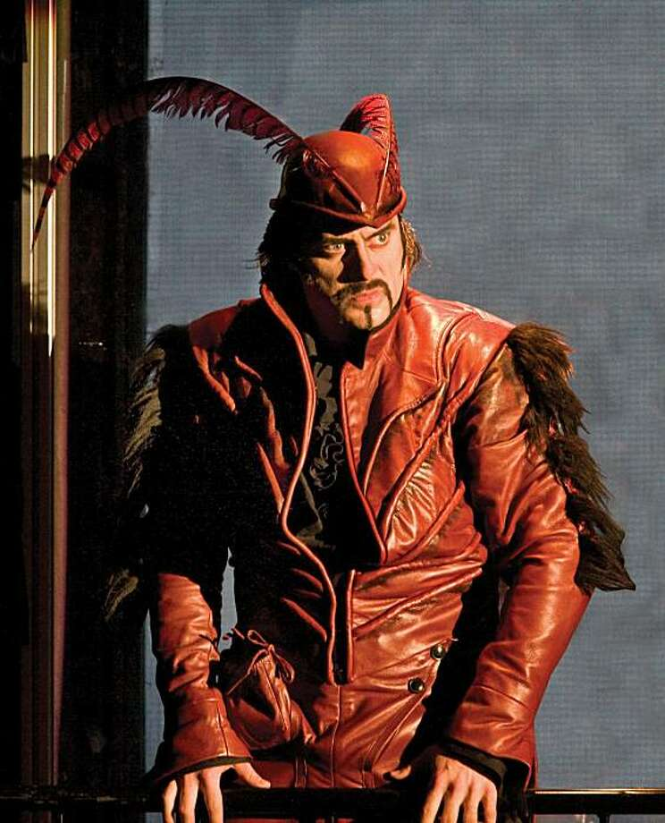 "John Relyea as Mephistopheles in ""Faust."" Photo: San Francisco Opera"