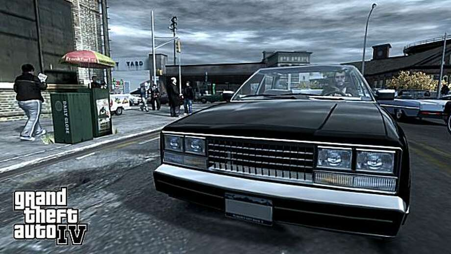 """** FILE ** In this file image provided by Rockstar Games/Take-Two Interactive Software Inc., a scene from """"Grand Theft Auto IV"""" is shown.  Rival game publisher Electronic Arts on Friday, April 18, 2008 extended by nearly a month its tender offer for Take-Two but lowered the price it's offering for each share of the company to reflect restricted shares granted to its management a day earlier.  (AP Photo/Rockstar Games) Photo: Rockstar Games, AP"""
