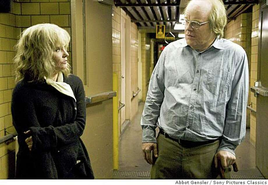 "Jennifer Jason Leigh and Philip Seymour Hoffman in ""Synecdoche, New York"" (2008). Photo: Abbot Gensler, Sony Pictures Classics"