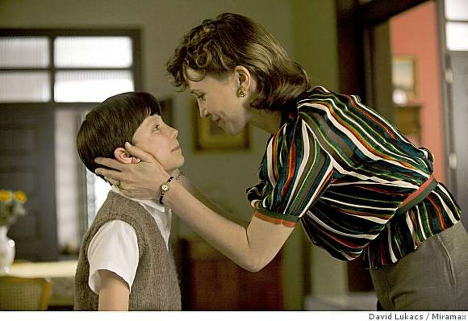 "Asa Butterfield as Bruno and Vera Farmiga as Mother in ""The Boy in  Striped Pajamas."" (2008) Photo: David Lukacs, Miramax"