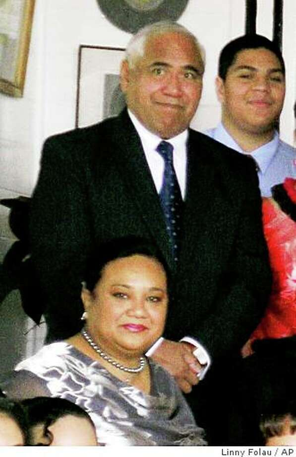 Tongan Prince Tu'ipelehake and his wife, Princess Kaimana, appear at Tonga King Taufa'ahau Tupou IV's 88th birthday party at the Royal Palace, in Nuku'alofa, Tonga, July 4, 2006. Photo: Linny Folau, AP