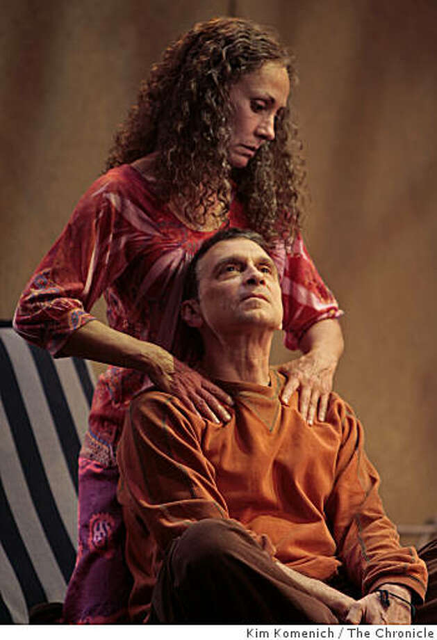 """Laurie Metcalf and Dennis Boutsikaris perform in """"The Quality of Life"""" at the American Conservatory Theater in San Francisco, Calif., on Friday, Oct. 24, 2008. Photo: Kim Komenich, The Chronicle"""