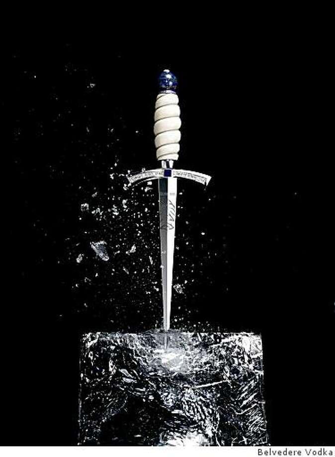 Jeweled ice pick designed by Belvedere Vodka. Photo: Belvedere Vodka