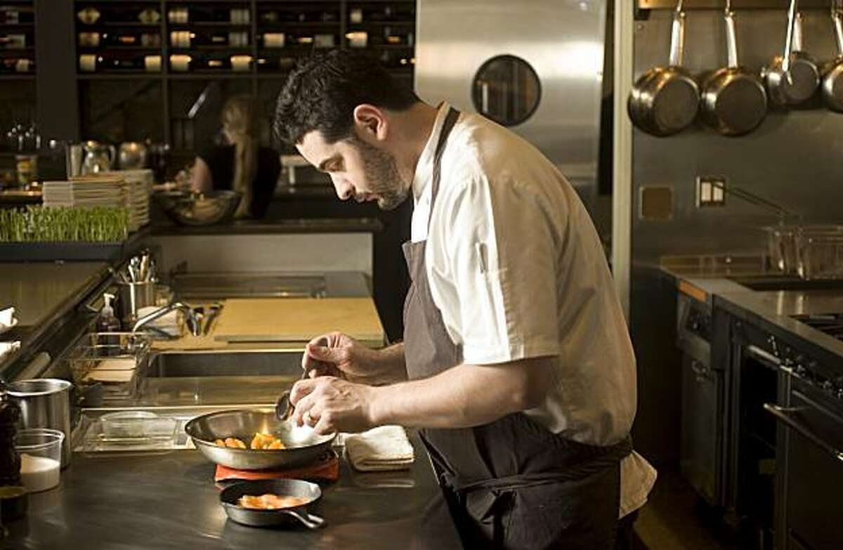 Jeremy Fox, chef at Ubuntu restaurant in Napa, making his Carrot Crumble. Craig Lee / Special to The Chronicle 2008