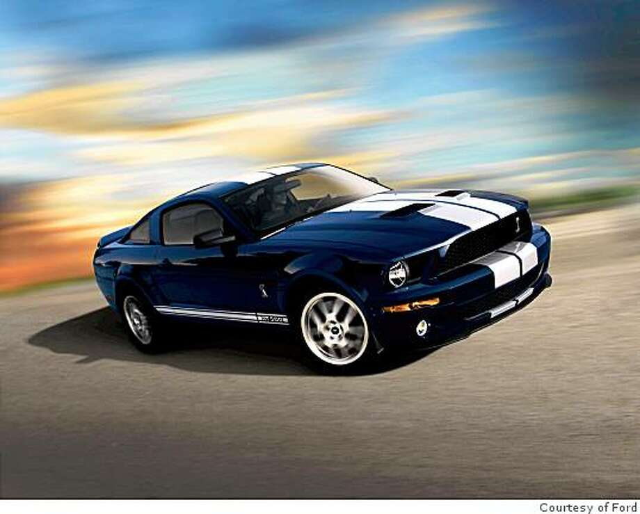 Racecar features like rally stripes have made their way into commercial car design such as on this update of the Shelby Mustang, which was originally developed in the 1960s by racing icon Caroll Shelby. Photo: Courtesy Of Ford