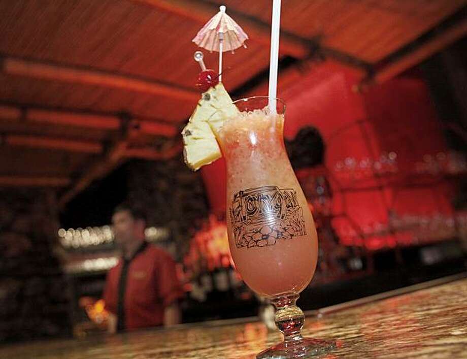Experts believe the Mai Tai cocktail was first served at the Tonga Room and Trader Vics in San Francisco. The Tonga Room in the Fairmont Hotel in San Francisco, Calif. will be considered for historical landmark status by the City Historical Review Committee. Photo: Brant Ward, The Chronicle