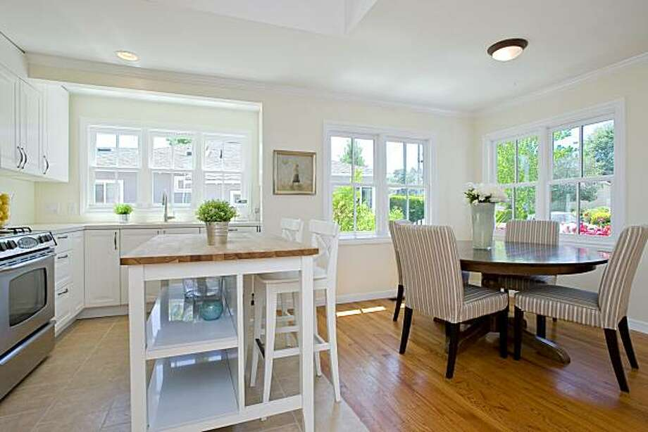 appealing living room dining kitchen combo | Remodeled Mill Valley home on the market - SFGate