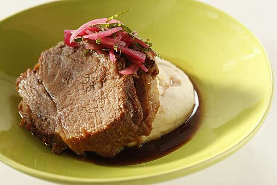 Luella's Coca-Cola Braised Pork Shoulder with Pickled Red Onions in San Francisco, Calif., on March 3, 2010. Food styled by Julia Mitchell. Photo: Craig Lee, Special To The Chronicle