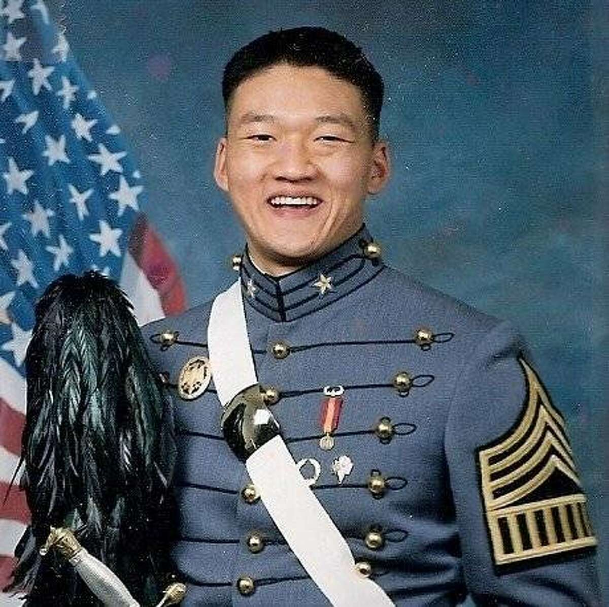 """Army National Guard Lt. Dan Choi as a West Point cadet in 2003. Choi - a gay Arabic-speaking linguist who was dismissed in March after coming out on MSNBC?•s """"Rachel Maddow Show"""" - will be a Grand Marshal in this year's San Francisco Pride Parade."""