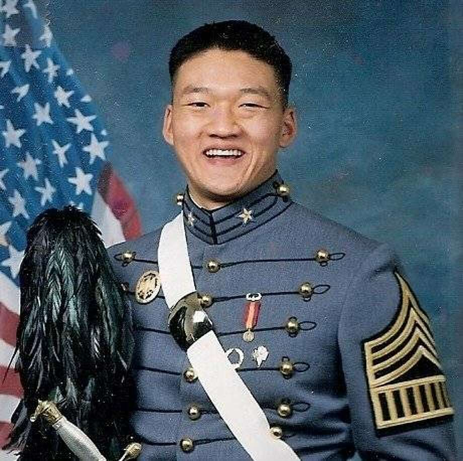 "Army National Guard Lt. Dan Choi as a West Point cadet in 2003. Choi - a gay Arabic-speaking linguist who was dismissed in March after coming out on MSNBCÕs ""Rachel Maddow Show"" - will be a Grand Marshal in this year's San Francisco Pride Parade. Photo: Courtesy Of Dan Choi"