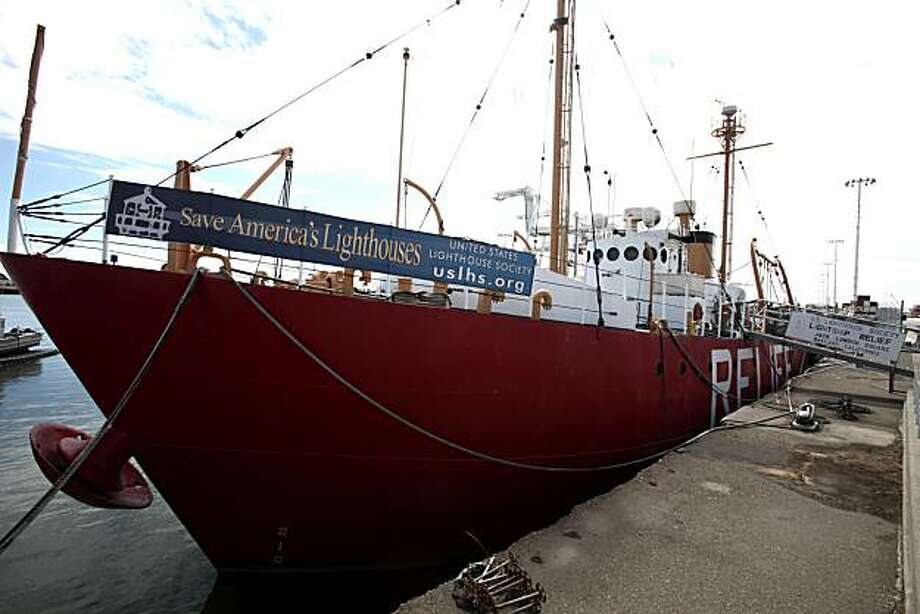 Seen is the lightship RELIEF and is operated by the US Lightship Society, a non profit which doesnt have money to run it on Monday, May 24, 2010 in Oakland, Calif. Photo: Jessica Pons, The Chronicle