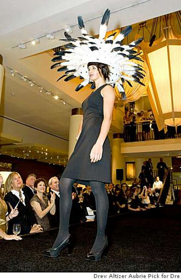 """""""Made in the Shade,'' an auction sale of artistically designed lampshades held at Gump's on Sept. 17, featured a runway show of select lampshades and a silent auction as well. This lampshade, called """"Light Flight,"""" was designed by Bay Bridge architect Donald MacDonald. Event was held Sept 17 2008Fashion Show Photo: Drew Altizer Aubrie Pick For Dre"""