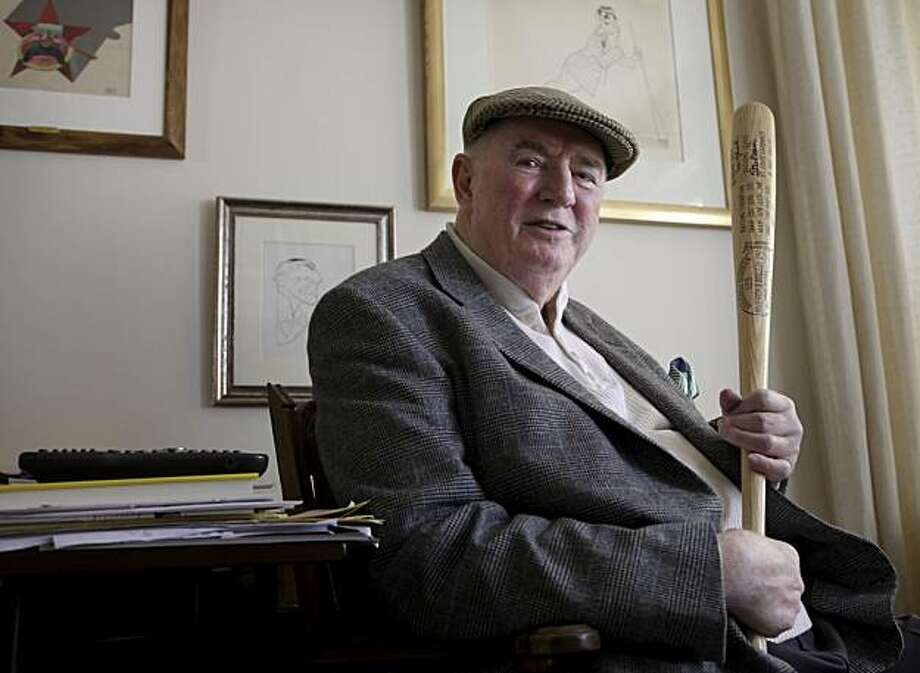 Ed Moose shows the memorabilia and art that he accumulated over 37 years that he is planning to put up for auction, Thursday May 6, 2010, in San Francisco, Calf. Many of the items came from owning Moose's restaurant and from the world traveling softball team that he once founded. The money made from the auction will be used to feed the hungry. Photo: Lacy Atkins, The Chronicle