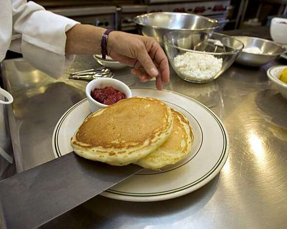 Lemon ricotta pancakes Photo: John O'Hara, The Chronicle