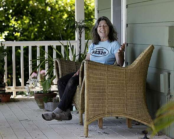 Bette Kroening enjoys her porch on a warm Sonoma County afternoon Thursday May 13, 2010. Bette Kroening, who runs the popular Bette's Oceanview Diner in Berkeley, Calif., is now farming a 5 acre ranch near Sebastapol, Calif. with her husband Manfred. Photo: Brant Ward, The Chronicle