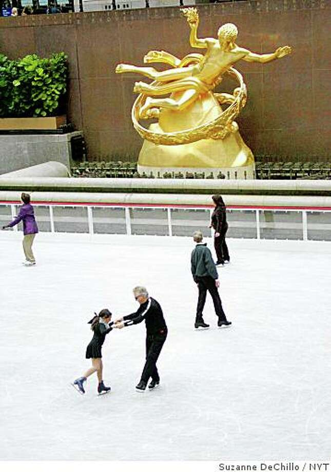 The ice skating rink at Rockefellar Center in Manhattan is open, as seen on Saturday, October 7, 2006. Photo: Suzanne DeChillo, NYT