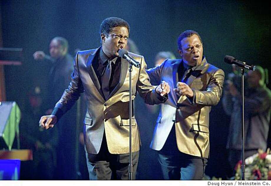 """Bernie Mac (from left), Isaac Hayes and Samuel L. Jackson in """"Soul Men"""" (2008).Bernie Mac and Samuel L. Jackson star in Malcolm D. Lee's Soul Men. Photo: Doug Hyun, Weinstein Co."""