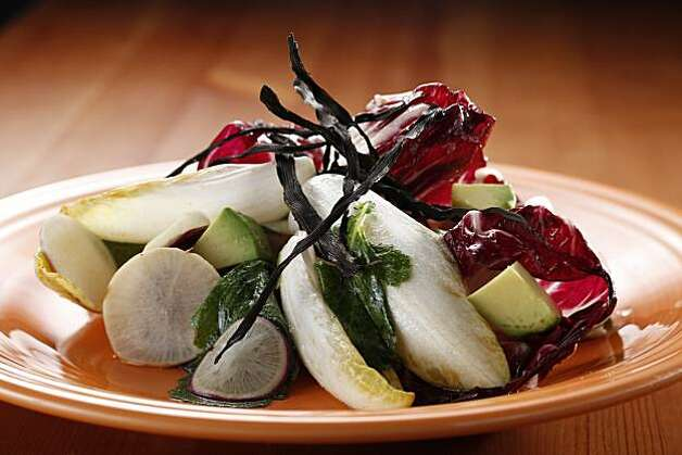 Shaved Baby Turnip Salad with Wakame Dressing in San Francisco, Calif., on May 12, 2010. Food styled by Katie Popoff. Photo: Craig Lee, Special To The Chronicle