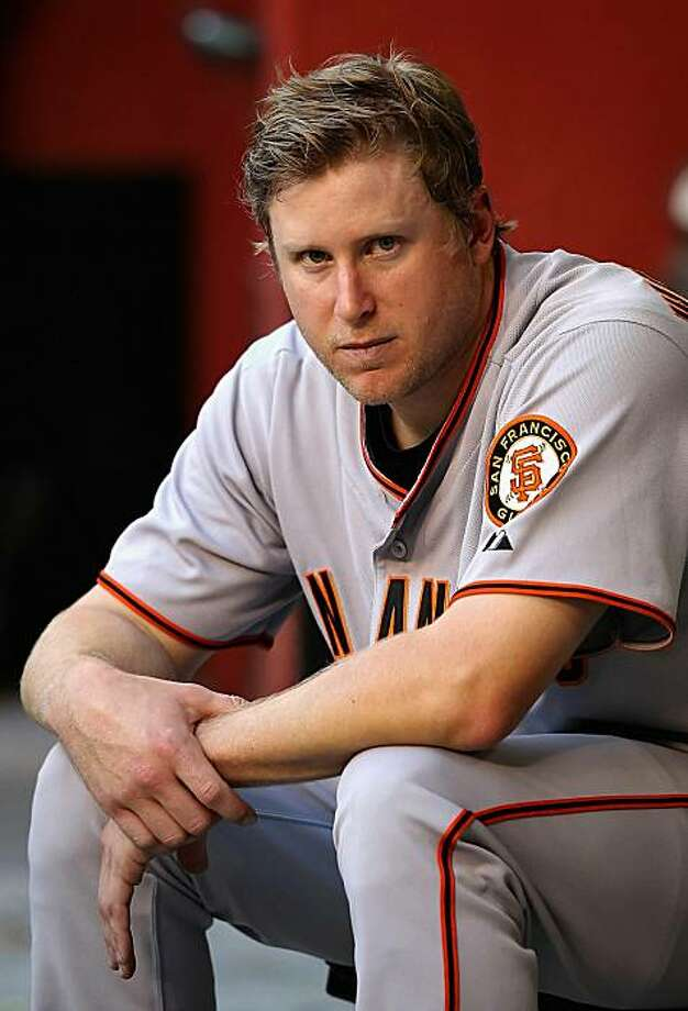 PHOENIX - MAY 19:  Starting pitcher Todd Wellemeyer #37 of the San Francisco Giants reacts in the dugout during the Major League Baseball game against the Arizona Diamondbacks at Chase Field on May 19, 2010 in Phoenix, Arizona. Photo: Christian Petersen, Getty Images