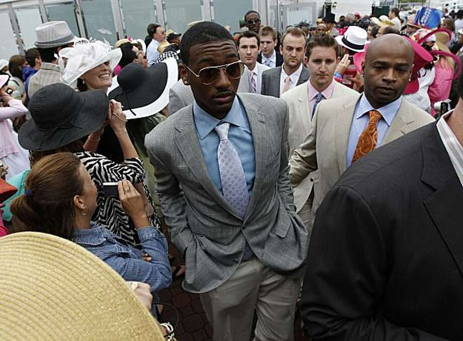 Former University of Kentucky basketball player John Wall arrived for the 136th running of the Kentucky Derby at Churchill Downs in Louisville, Kentucky, Saturday, May 1, 2010. (Charles Bertram/Lexington Herald-Leader/MCT) Photo: Charles Bertram, MCT