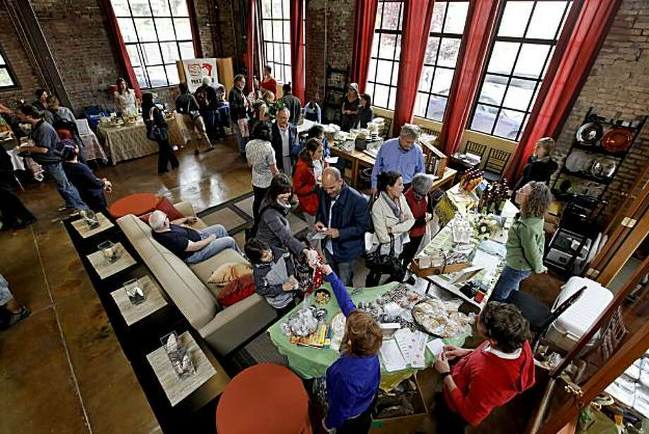 Chefs dispaly their wares inside the Grace Baking Catering Building on Wednesday May 19, 2010, in Oakland, Calif.  The Pop Up General Store features the creations of several local chefs who sell their products every couples of weeks. Photo: Michael Macor, The Chronicle