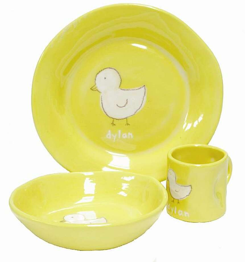 Alex Marshall Studios' new line of personalized ceramics for kids and babies. Photo: Alex Marshall Studios