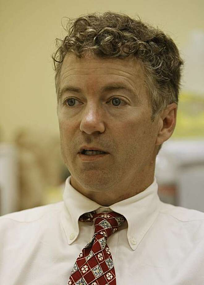 Republican U.S. Senate candidate Rand Paul is shown during an interview at his campaign headquarters after winning his party's primary election in Bowling Green, Ky., Wednesday, May 19, 2010. Photo: Ed Reinke, AP