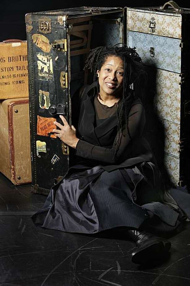 """Pamela Z, whose show """"Baggage Allowance"""" will be performed at Z Space, poses for a portrait at Z Space at Theater Artaud in San Francisco, Calif. on Tuesday May 18, 2010. Photo: Lea Suzuki, The Chronicle"""