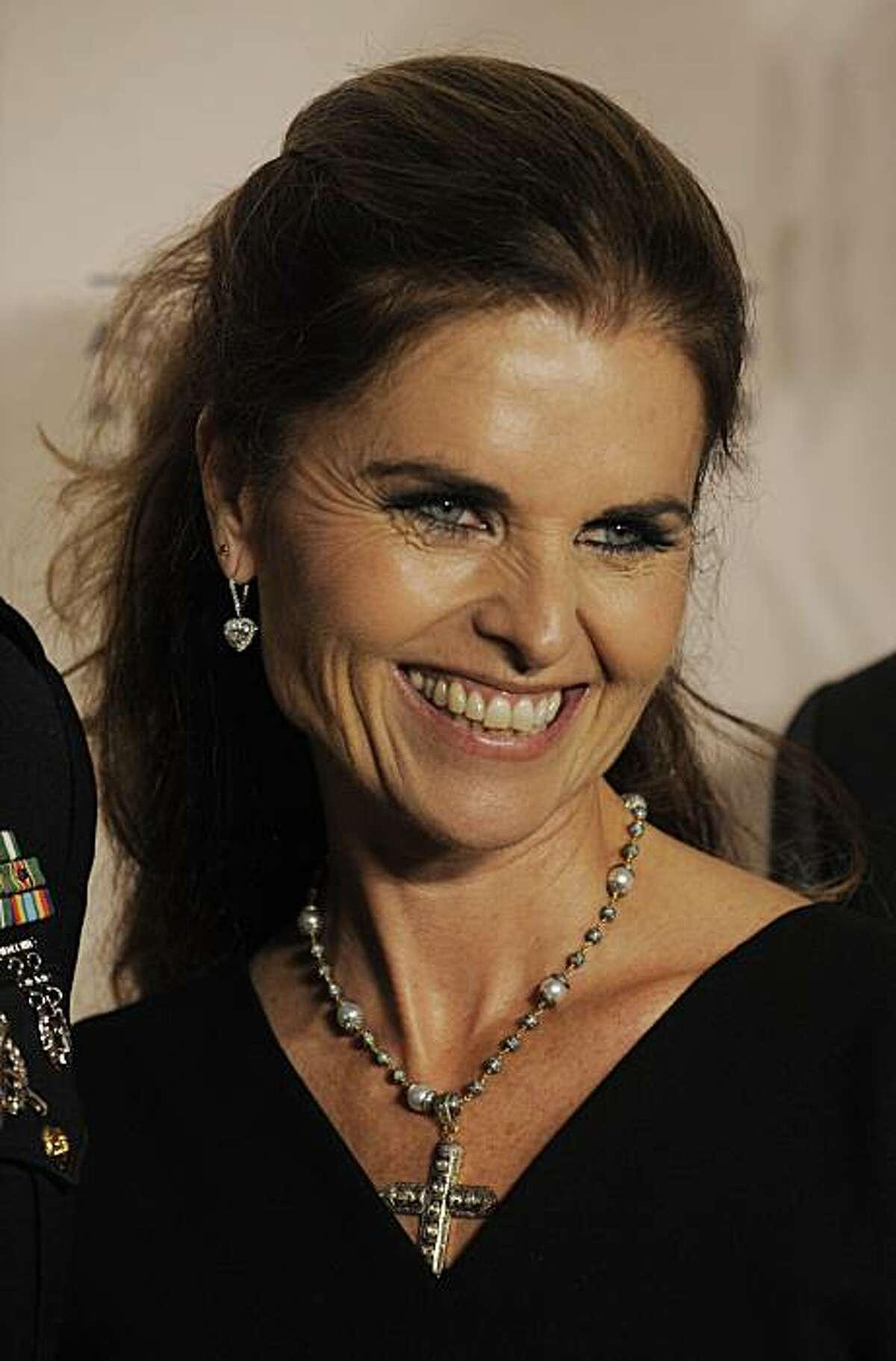 California First Lady Maria Shriver arrives at the Academy of Television Arts & Sciences' 3rd Annual Television Academy Honors in Beverly Hills, Calif., Wednesday, May 5, 2010.