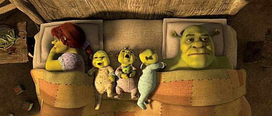 """Princess Fiona (Cameron Diaz) and Shrek (Mike Myers) appear in a scene in, """"Shrek Forever After."""" Photo: Paramount"""