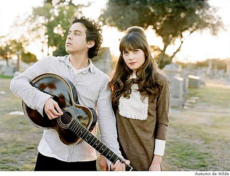 She & Him is M. Ward and Zooey Deschanel. Photo: Autumn De Wilde