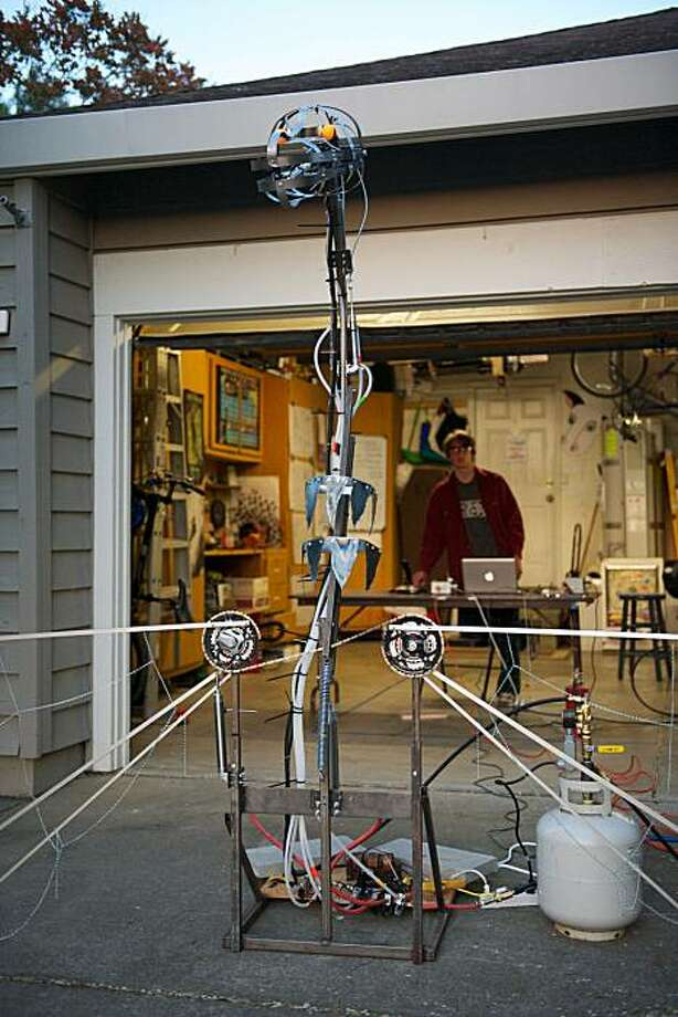 Tony DeRose and his sons will bring their fire-breathing dragon to this weekend's Maker Faire. They came up with the idea before Christmas, and have been working on it in their garage. Photo: Courtesy Of Tony DeRose, Courtesy Of Tony DeRose