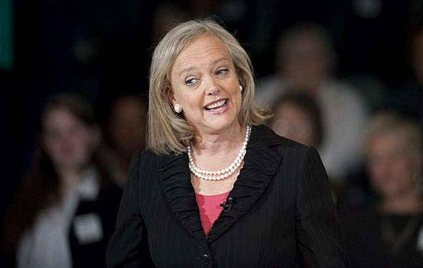 Republican gubernatorial candidate Meg Whitman speaks at a town hall meeting on Monday, May 17, 2010 in Sacramento. (AP Photo/The Sacramento Bee, Hector Amezcua) MAGS OUT, TV OUT, MANDATORY CREDIT