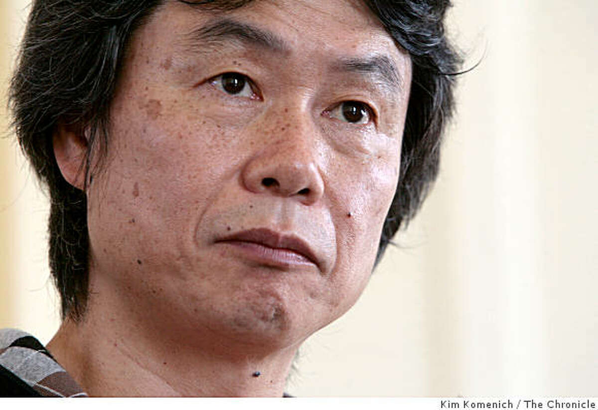 Nintendo game designer Shigeru Miyamoto, the genius behind everything from Super Mario Bros. and Donkey Kong to the Wii Game Console, talks about the new Wii Music at the Westin St. Francis Hotel in San Francisco, Calif., on October 24, 2008.
