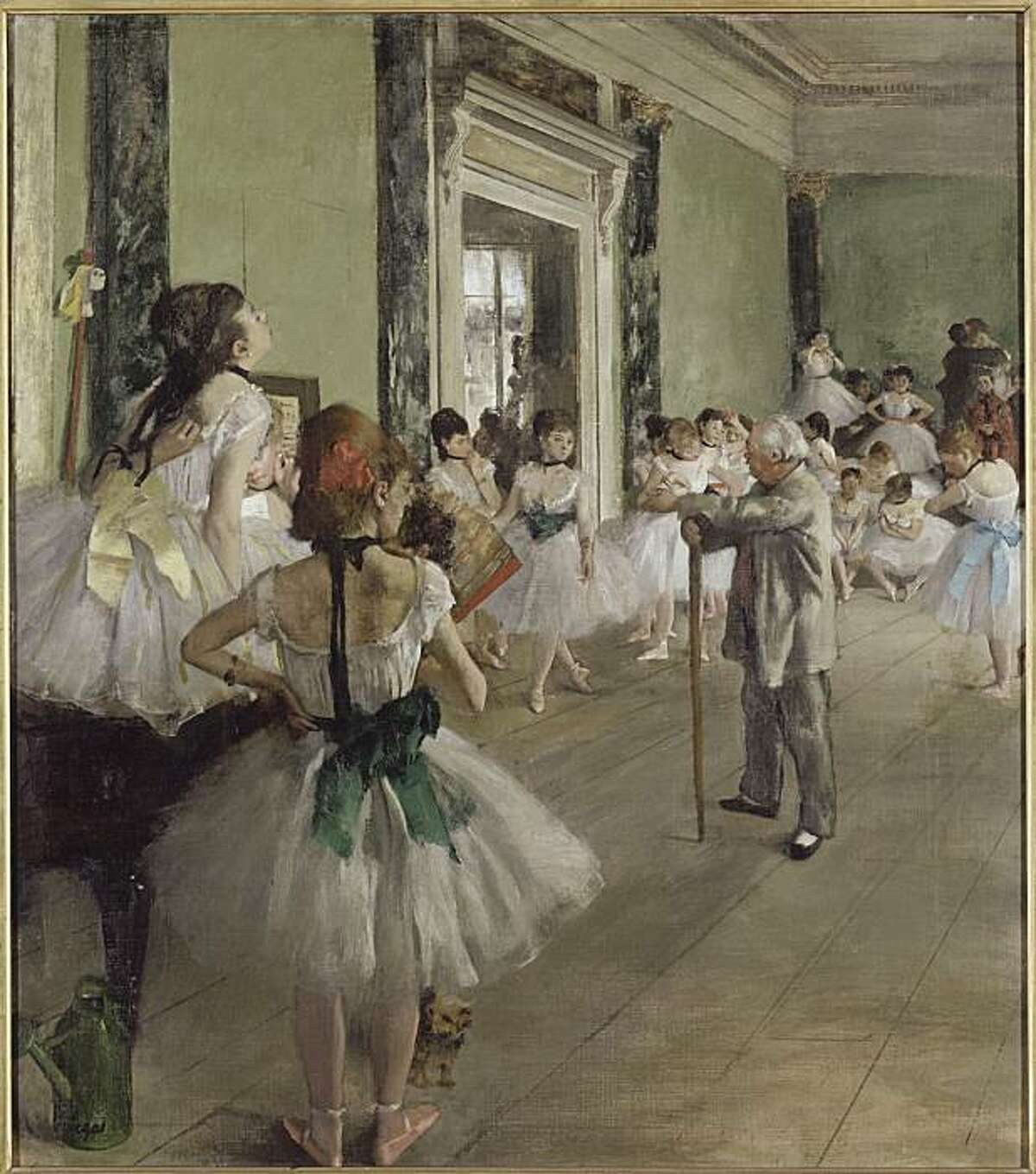 """""""the Dancing Lesson"""" (1873-76) oil on canvas by Edgar Degas copyright RNM/musee d'orsay"""