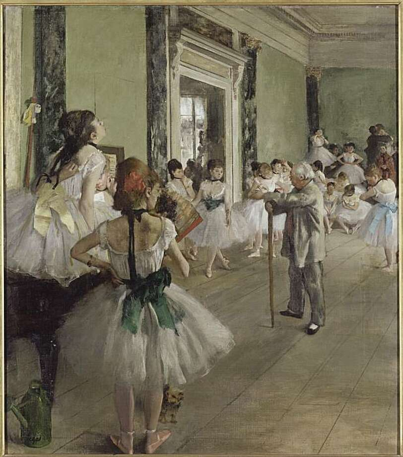 """the Dancing Lesson"" (1873-76) oil on canvas by Edgar Degas  copyright RNM/musee d'orsay Photo: Courtesy, RMN / Musee D'Orsay"
