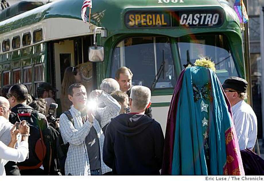 Franco Lopez, San Francisco, photographs The Sisters of Perpetual Indulgence at the dedication by Municipal Railway of a historic streetcar after slain Supervisor Harvey Milk in San Francisco  at 17th & Castro photographed on Tuesday, October 28, 2008. Photo: Eric Luse, The Chronicle