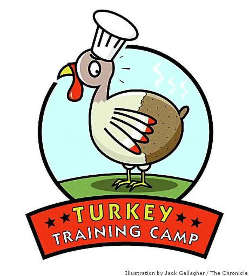 Logo for the turkey training camp at the San Francisco Chronicle Food kitchen. Photo: Illustration By Jack Gallagher, The Chronicle